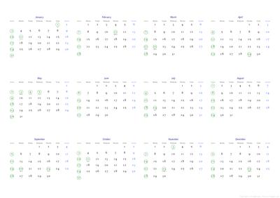 2010年カレンダー