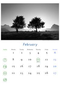 2010年2月のカレンダー