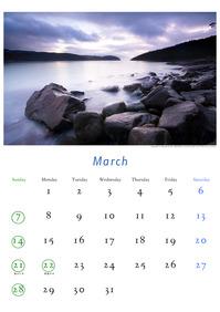 2010年3月のカレンダー