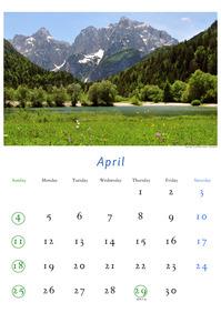 2010年4月のカレンダー
