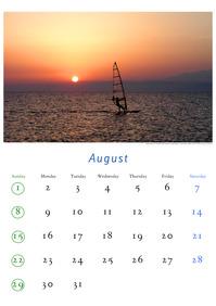 2010年8月のカレンダー