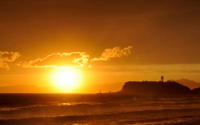 sunset shichirigahama