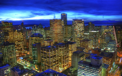 Vancouver Skyline at Twilight