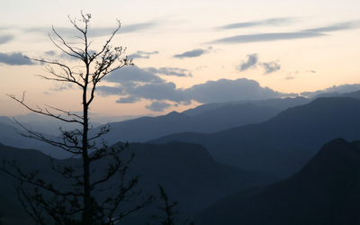 Qilian sunset