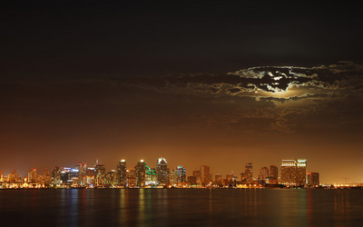 Moon over San Diego