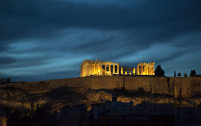 Parthenon night