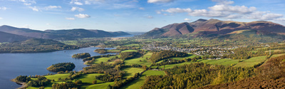 panorama of the town of Keswick