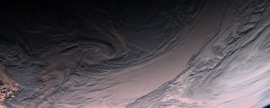 Rosetta - Swirling clouds over the South Pacific Copyright (c) ESA, MPS for OSIRIS
