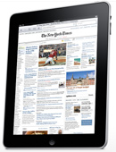 iPad newspaper