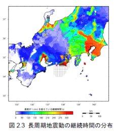 東海地震での長周期地震動の継続時間