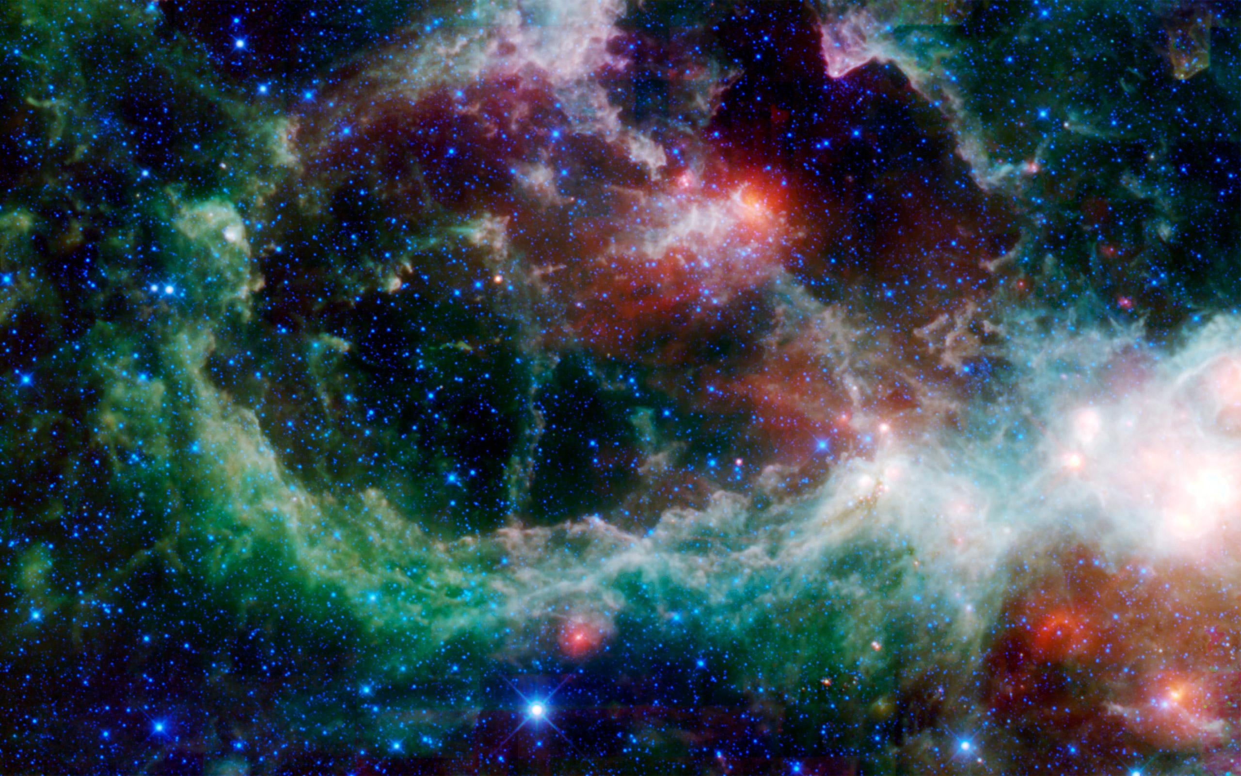 色とりどりの銀河の画像